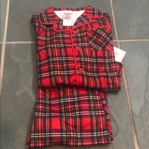 NWT Little Me Plaid Pajama Set 24m